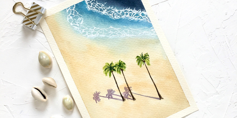 Intermediate Landscape Watercolour Workshop: Beach Dreams