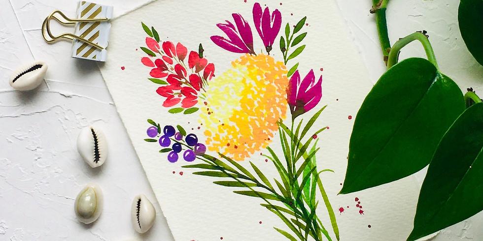 Beginner Watercolor Florals Workshop