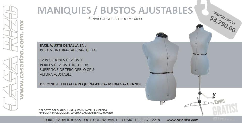 Maniquies / Bustos Ajustables :: Casa Rizo