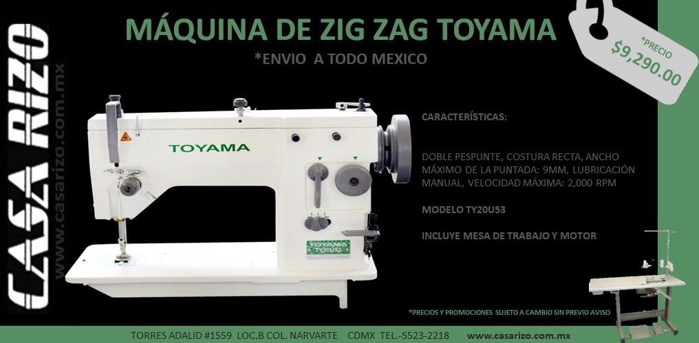 Maquina Zig zag Toyama