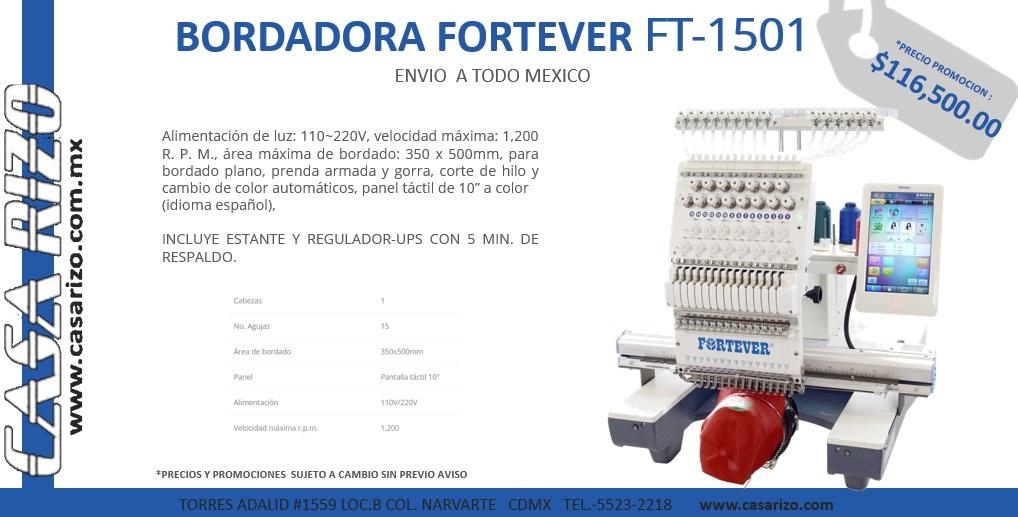 Bordadora Fortever ft-1501