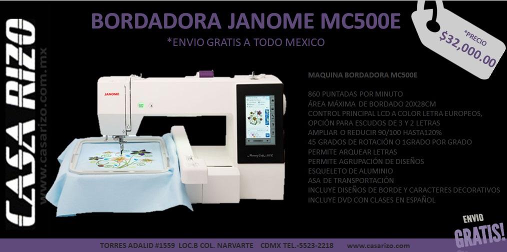 Bordadora Janome mc500e
