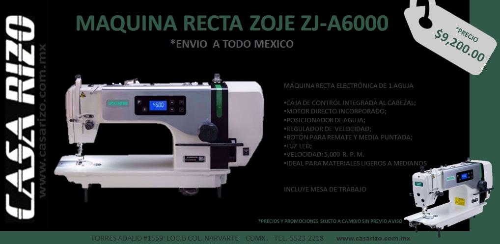 Maquina Recta Zoje a6000g
