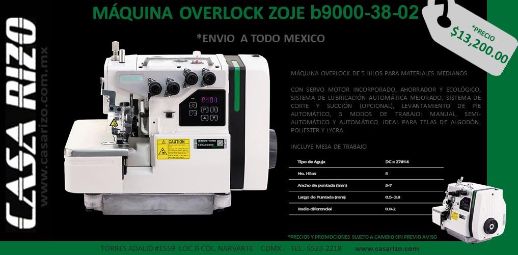 Maquina Overlock Zoje b9000-38-02