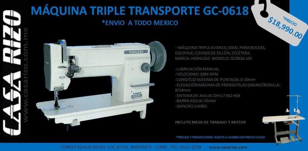 Máquina de triple avance HIGHLEAD GC0618