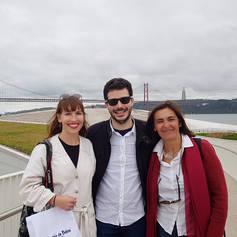 with Gabi and Santi, UK