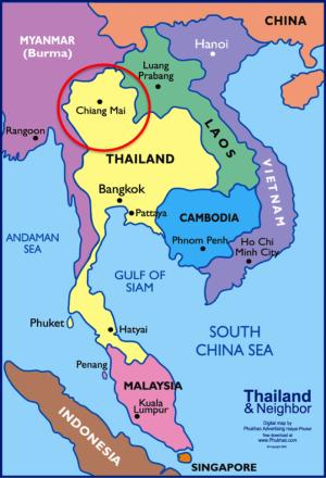 CHIANG MAI A SEGUNDA MAIOR CIDADE DA TAILÂNDIA