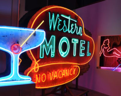 The Museum of Neon Art encourages learning, curiosity and expression through the preservation, collection and interpretation of neon, electric and kinetic art. We are proud to house the warehouse storage of our Glendale based Museum at the Pomona Packing Plant. Sign up for our newsletter to find out about our public warehouse days.