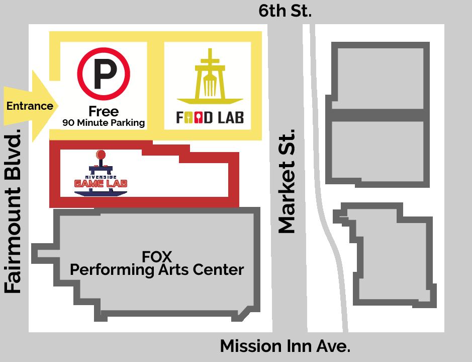 Riverside food lab parking