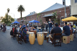 Drum Circle in the Street