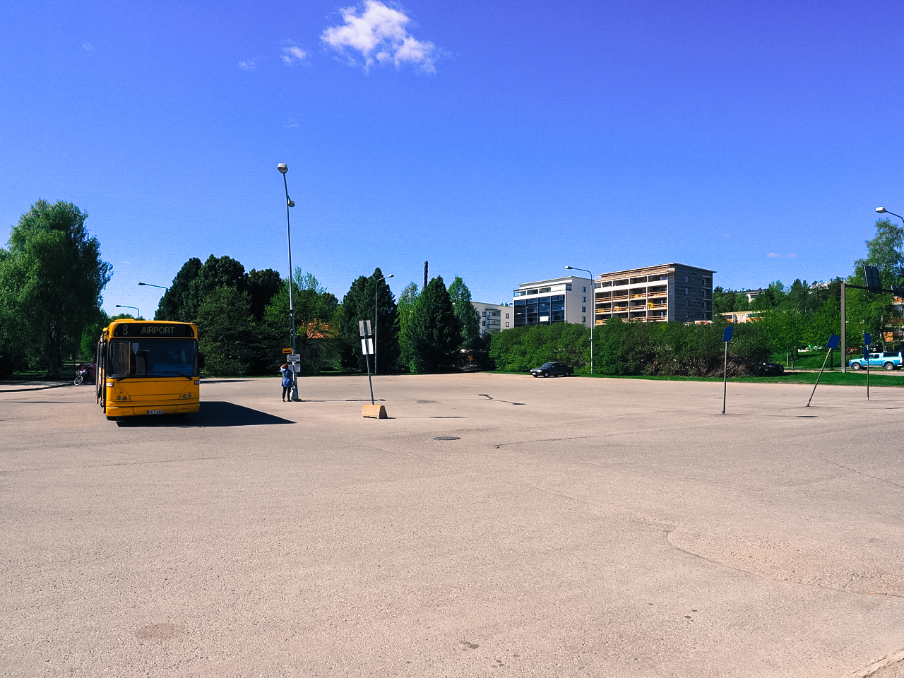Rovaniemi bus station doesn't give you any indication of the 28 000 festival goers that are on their way.