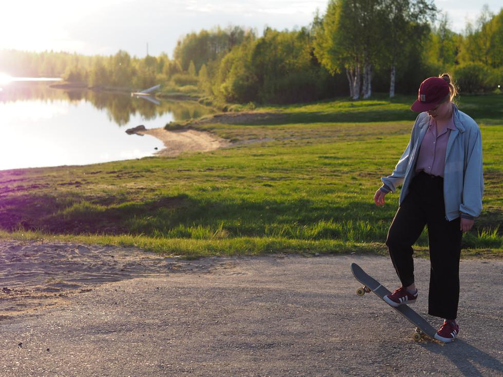 Skater in Sodankylä