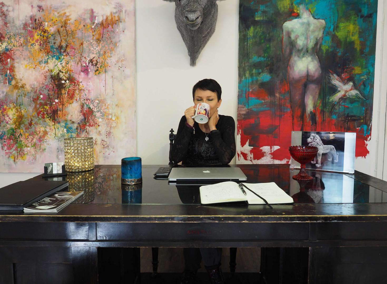 Katariina Souri By Her Desk
