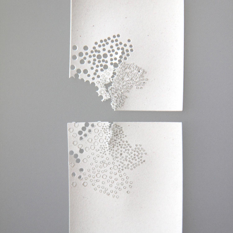 Découpe sur papier porcelaine