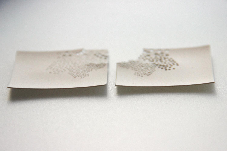 Gravure sur papier porcelaine
