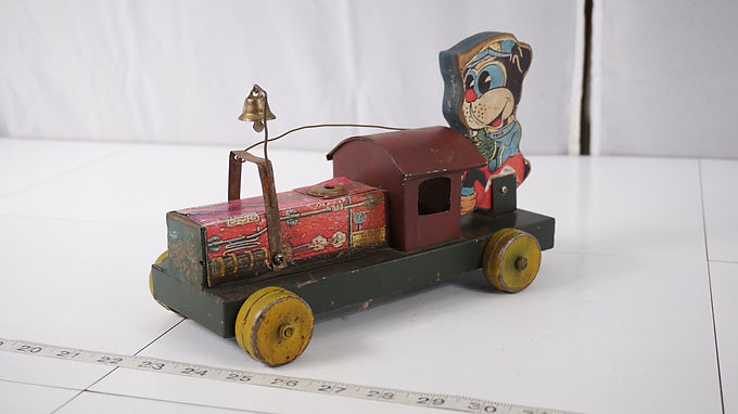 1930s Trix Wooden Train Toy Made By Gong Bell Mfg