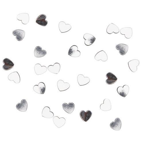 silver heart confetti pack