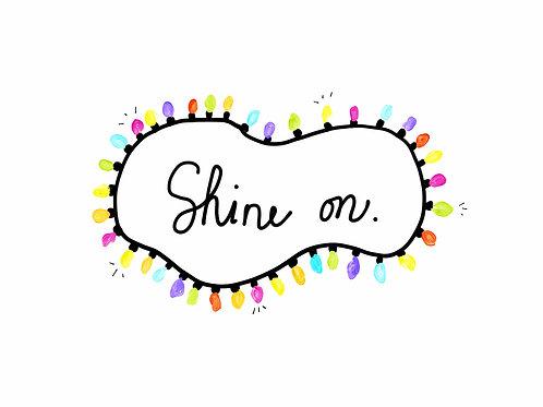 shine on lights holiday card