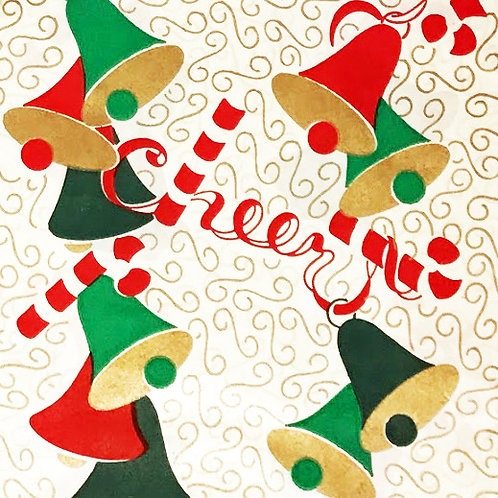 holiday cheer vintage wrapping paper