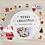 Thumbnail: merry christmas flake stickers // santa snowglobe