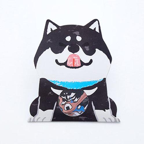 dog flake stickers // husky