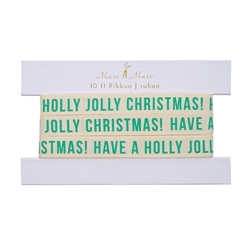 jolly christmas ribbon