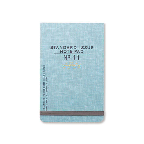 standard issue notepad / blue
