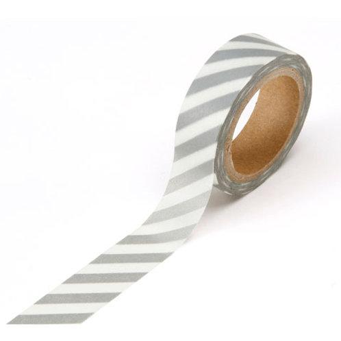 silver stripe washi tape