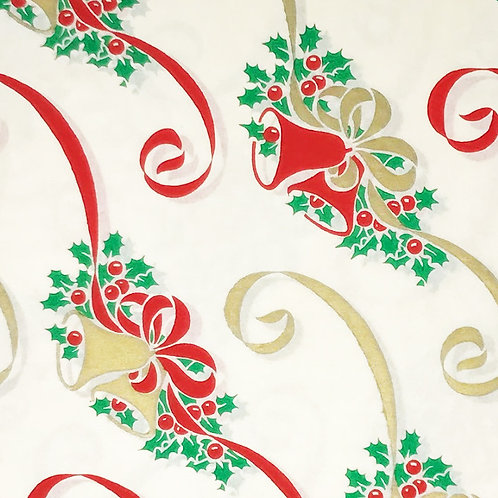 christmas bells vintage wrapping paper