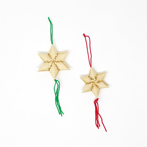 vintage star tassel ornaments