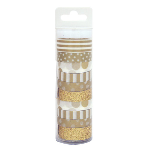 gold patterned washi tape pack