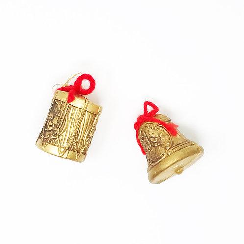 vintage golden instrument ornaments