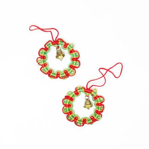 vintage jingle wreath ornaments