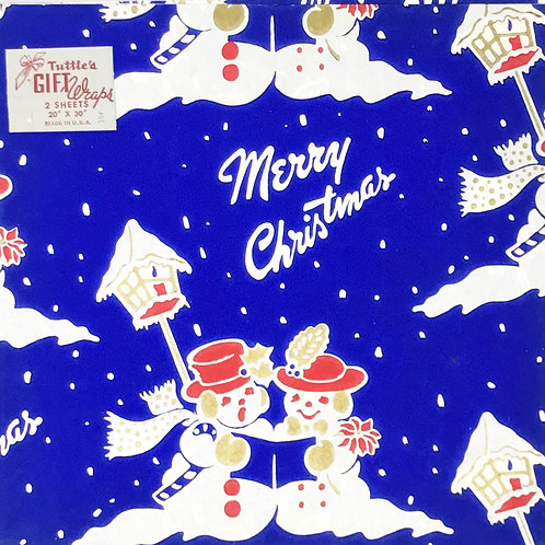 merry christmas vintage wrapping paper