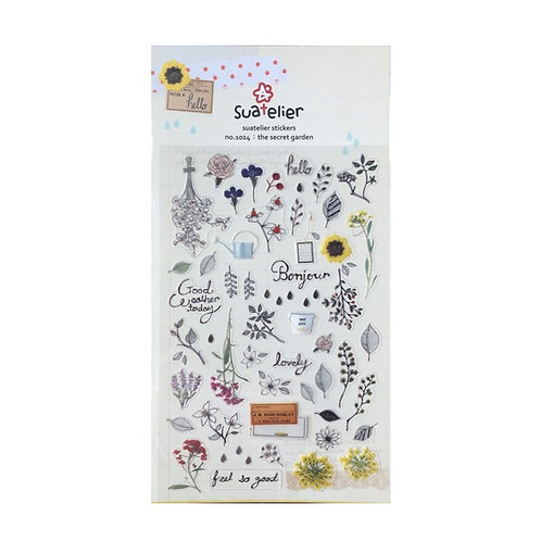 cute korean stickers // the secret garden