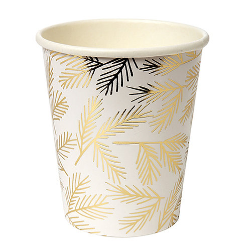 pine party cups // gold