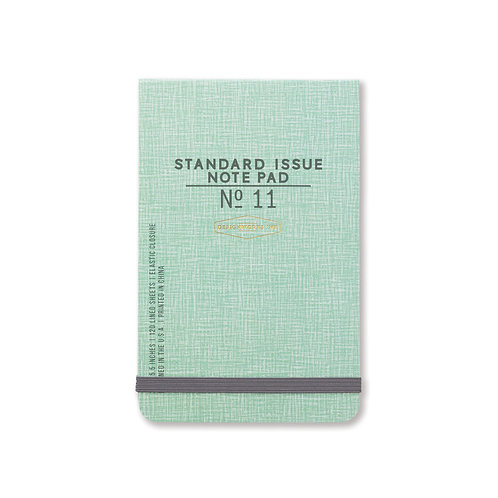 standard issue notepad / green