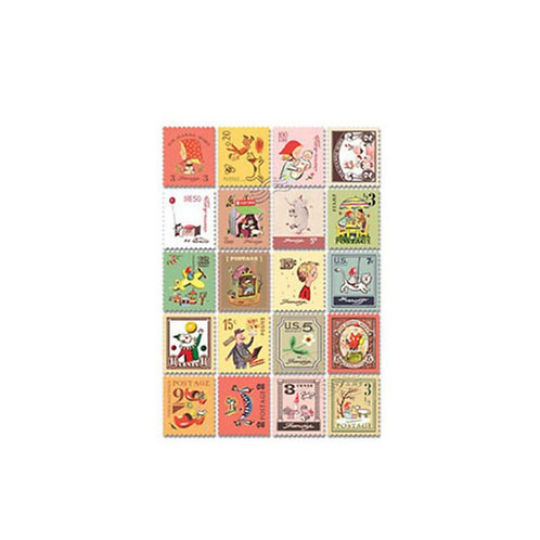 retro stamp stickers // dorothy