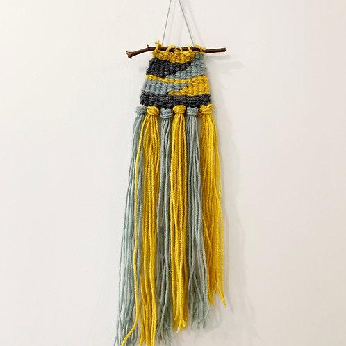 blue + yellow weaving