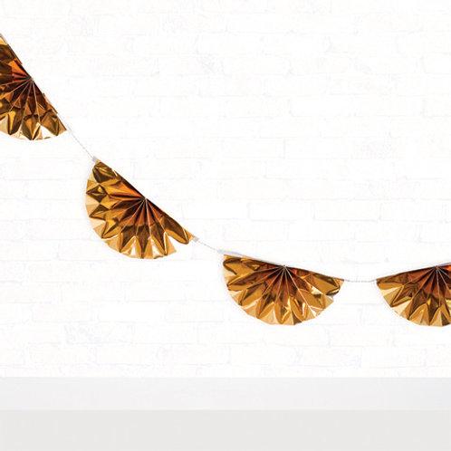 metallic gold paper bunting garland kit