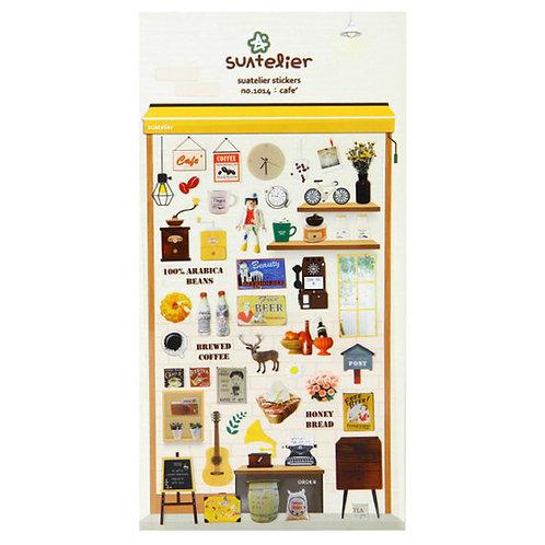 cute korean stickers // cafe