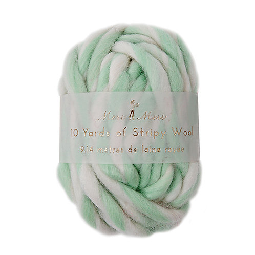 striped wool string // multiple colors
