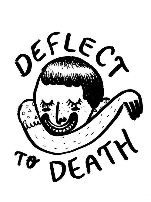 deflect to death print
