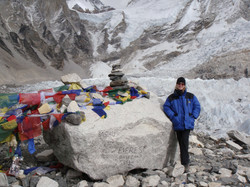 Anneke at Everest Base Camp