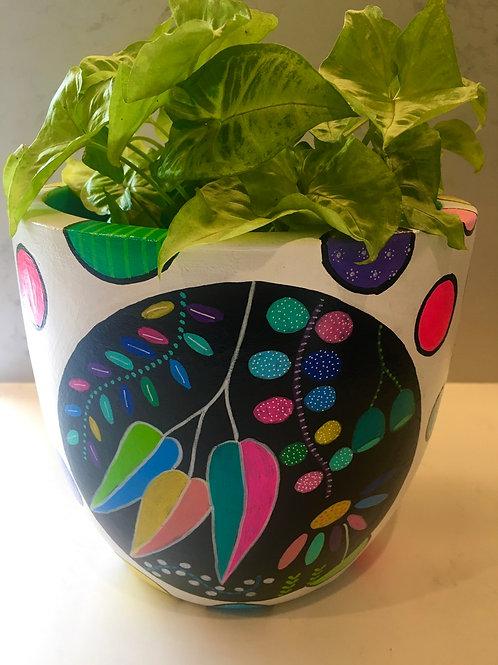 Medium Hand painted pot