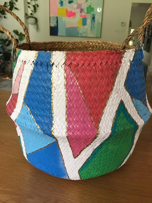 Had painted wicker basket