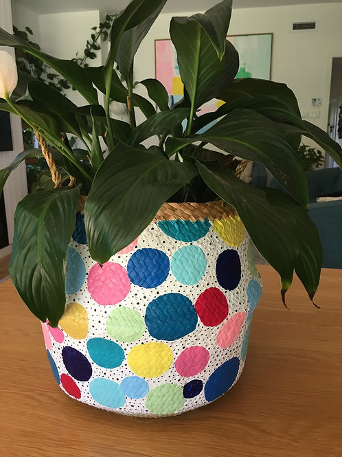 Spotty painted basket