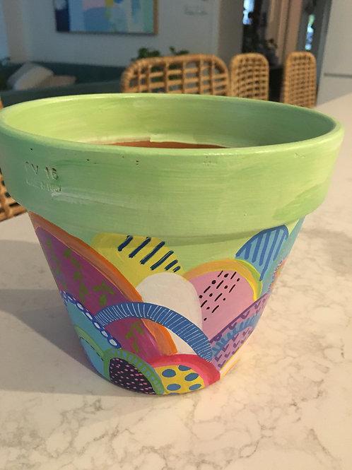 Mini hand painted pot