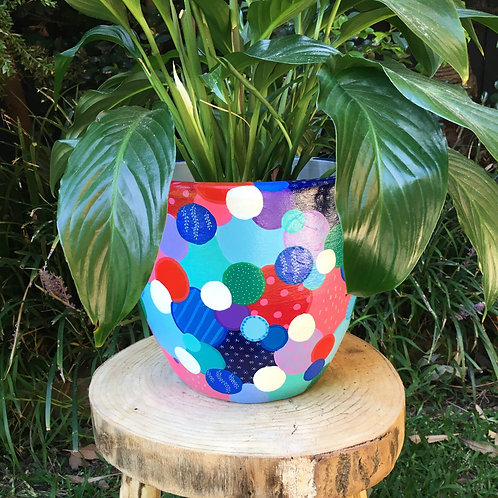 Handpainted Egg Pot
