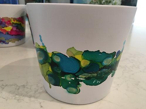 Inked planter pot medium